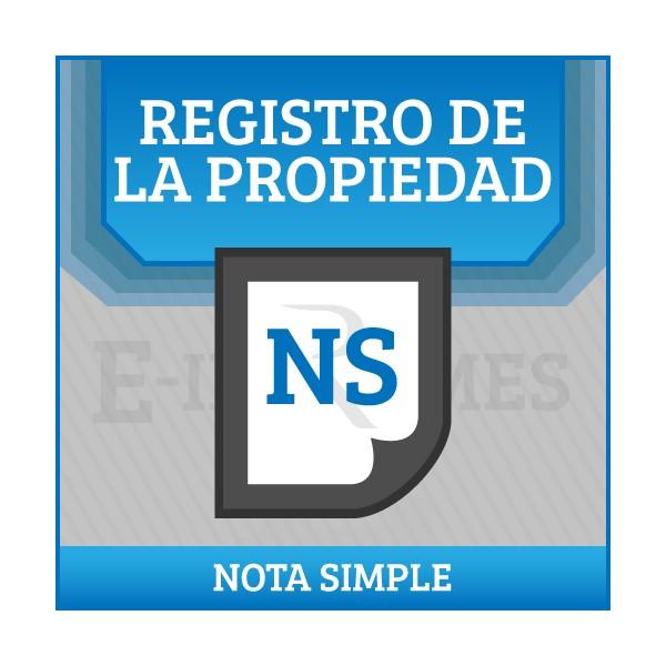 Solicitud informe del registro de bienes muebles nota for Registro de bienes muebles sevilla