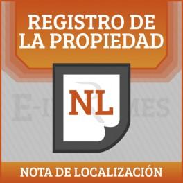 Nota de Localización Registral online