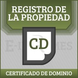 Certificado de Dominio Registro de La Propiedad online