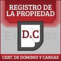 Certificado de Dominio y Cargas