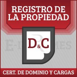 Certificado de Dominio y Cargas online