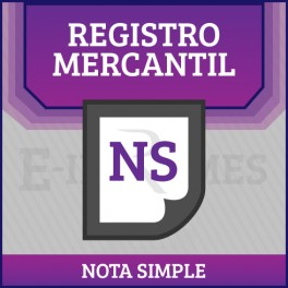 Nota Simple Registro Mercantil online
