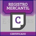 Certificado Registro Mercantil