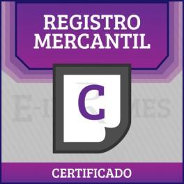Certificado Registro Mercantil online