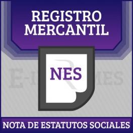 Nota de Estatutos Sociales online