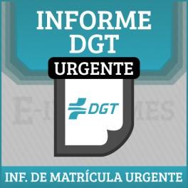 Informe de Matricula DGT URGENTE online
