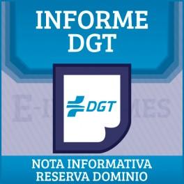 Nota informativa Reserva de Dominio online BONO 50 INFORMES